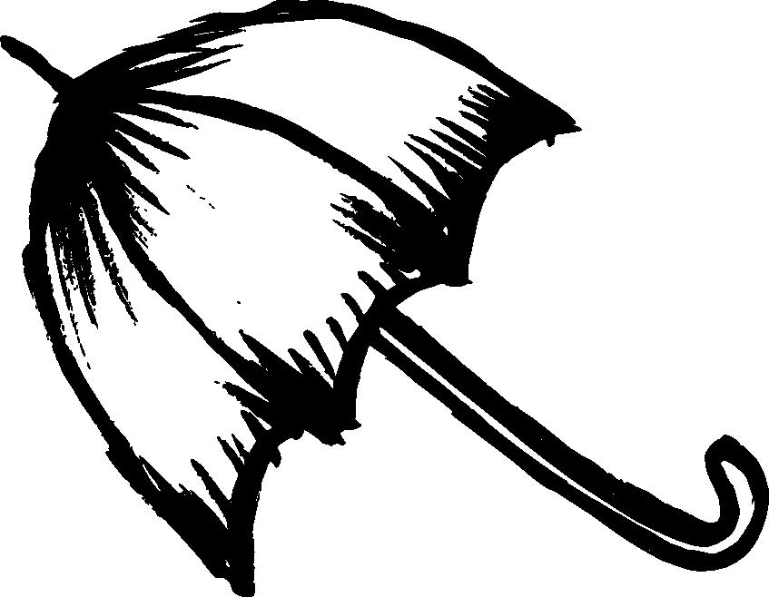 847x658 5 Umbrella Drawing (Png Transparent)