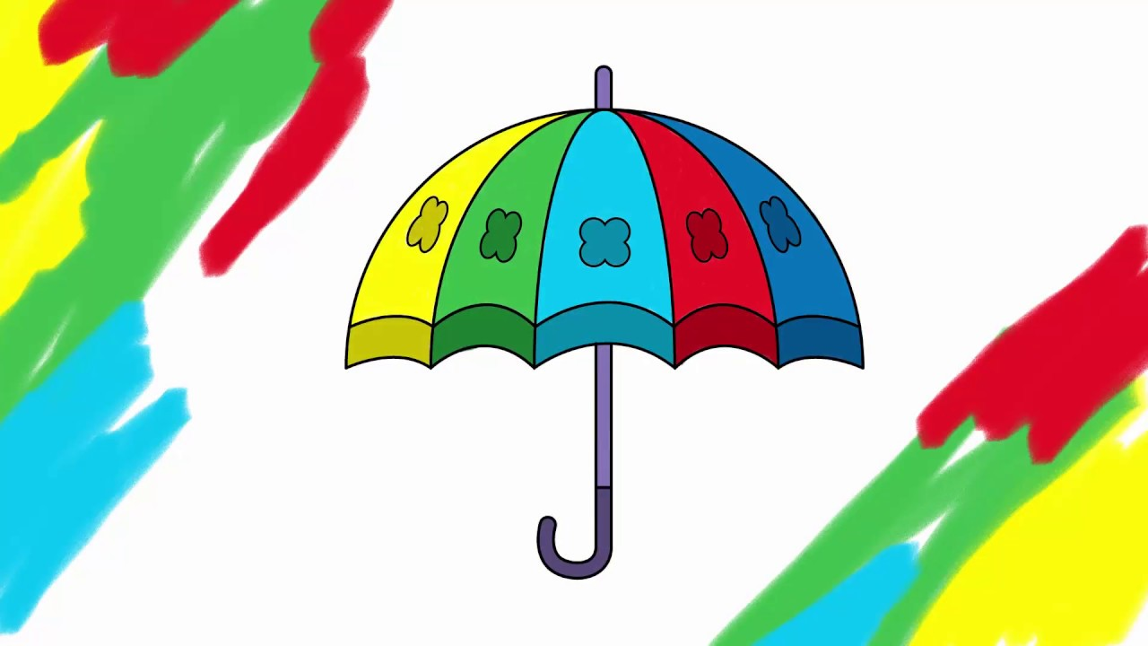 1280x720 How To Draw Umbrella Draw Cartoon Umbrella Draw Umbrella