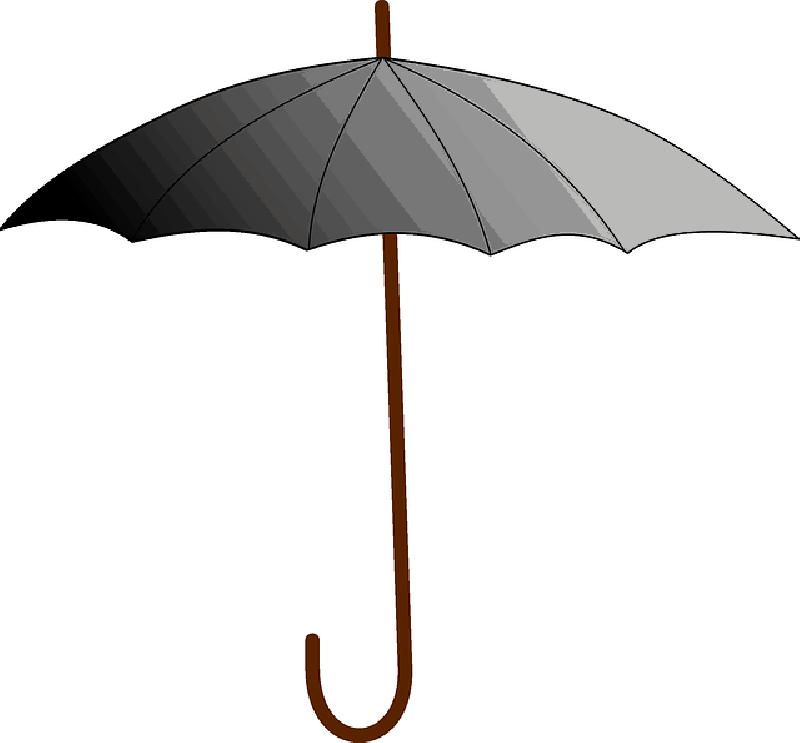 800x743 Black, Outline, Umbrella, Drawing, Sun, Cartoon, Free
