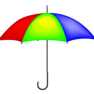 300x300 Colorful Vector Umbrella