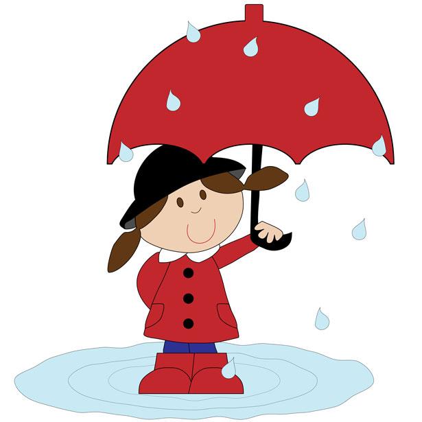 615x615 Girl With Umbrella Free Stock Photo