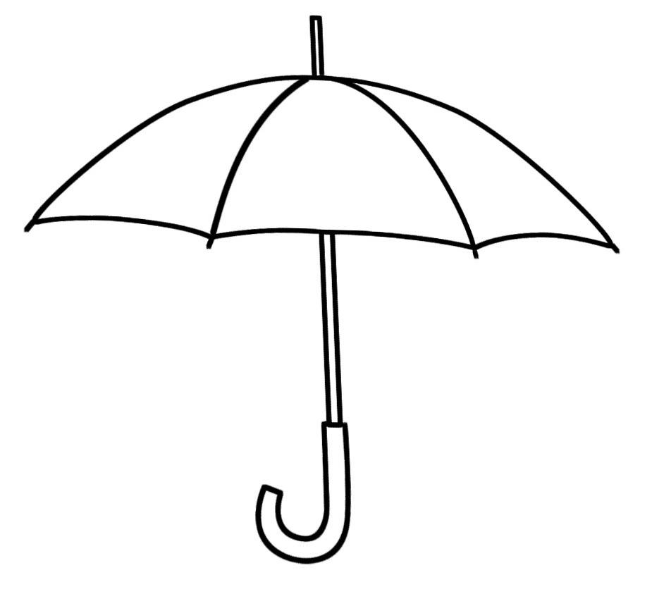 925x843 Clip Art Umbrella Outline Clipart
