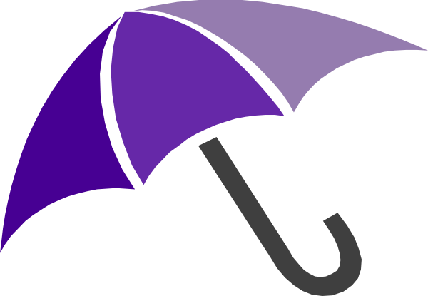 600x415 Open Umbrella Clipart