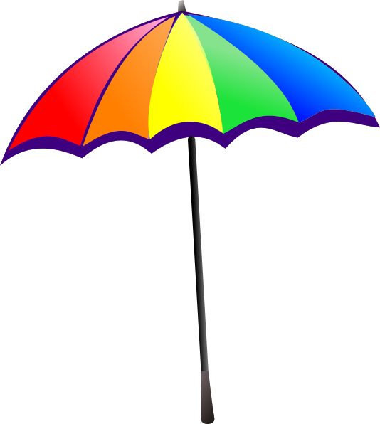 534x596 Rainbow Umbrella Clip Art