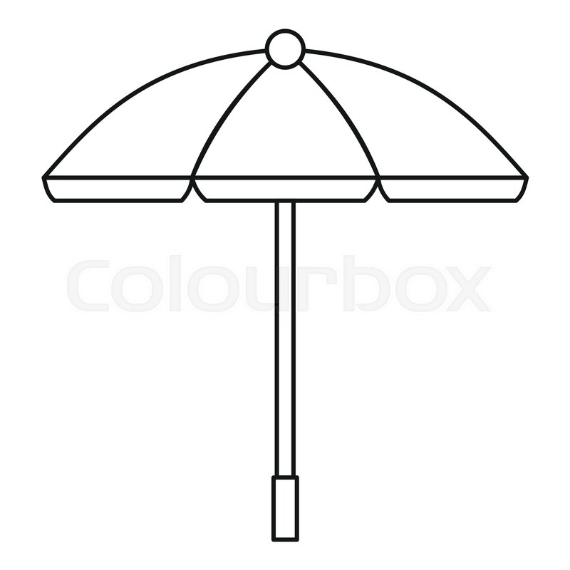 800x800 Sun Umbrella Icon. Outline Illustration Of Sun Umbrella Vector