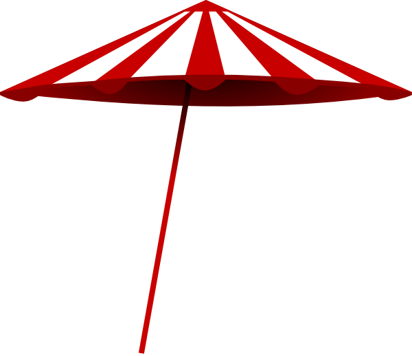 600x518 Tomk Red White Umbrella Clip Art