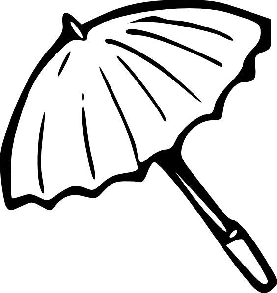 564x597 Umbrella Outline Clip Art