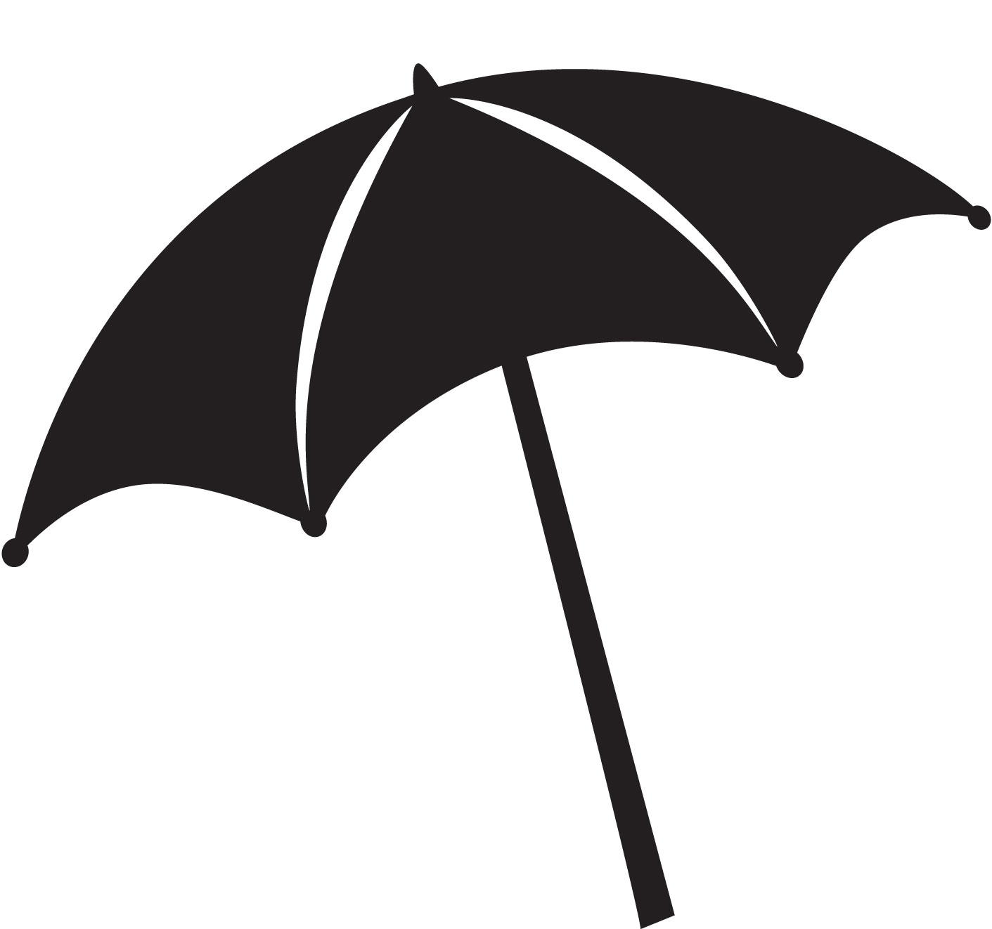 1411x1322 Umbrella Outline Clipart