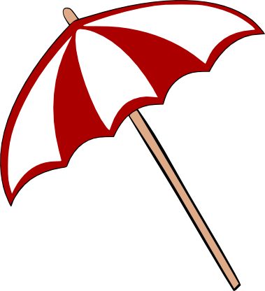 379x416 Umbrella Clipart Template