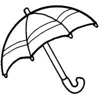 200x200 Umbrella Coloring Pages Surfnetkids