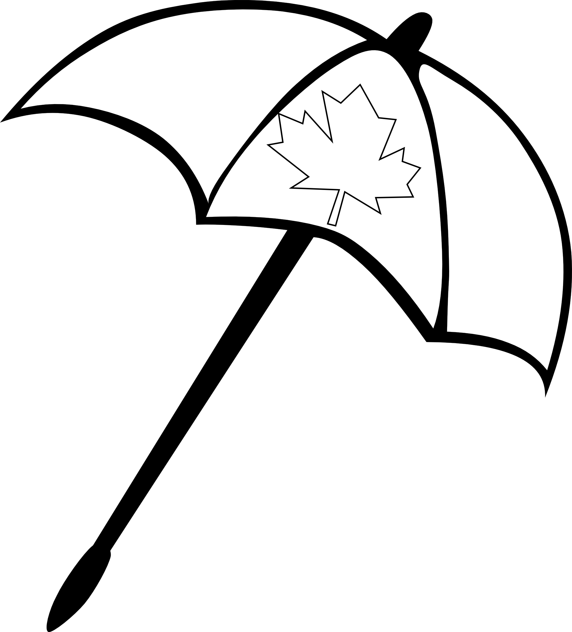 1979x2186 Excellent Beach Umbrella Outline With Umbrella Coloring Page