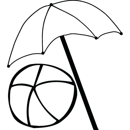 550x550 Impressive Stunning Beach Umbrella Coloring Pages New Outline Page