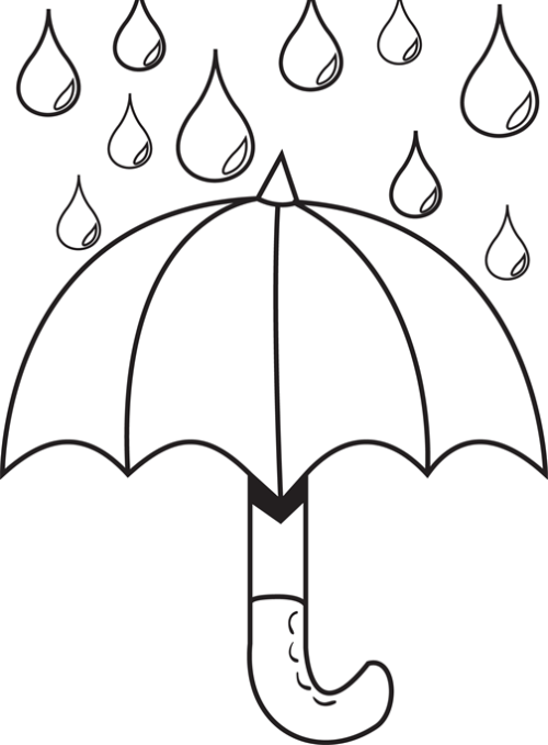 500x679 Drawn Umbrella Raindrop