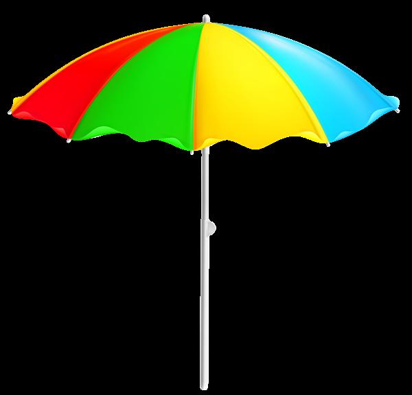 600x576 Colorful Beach Umbrella Png Clipart