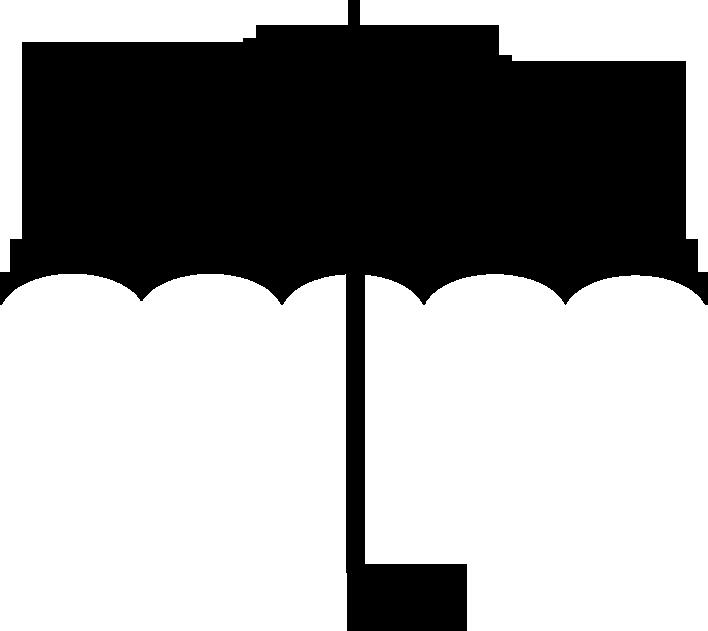 708x631 Umbrella Black And White Umbrella Free Download Clipart