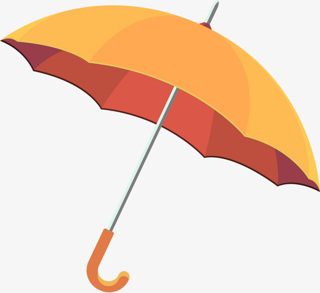650x596 Vector Painted Yellow Umbrella, Vector, Hand Painted, Yellow