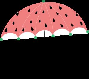 298x264 Watermelon Umbrella Clip Art