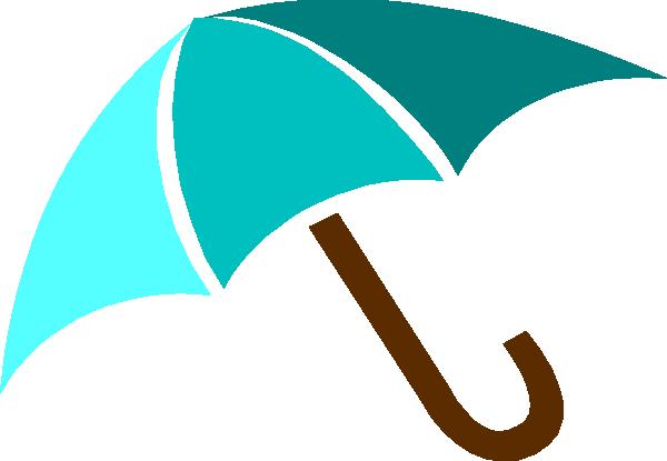600x415 Blue Umbrella Clip Art