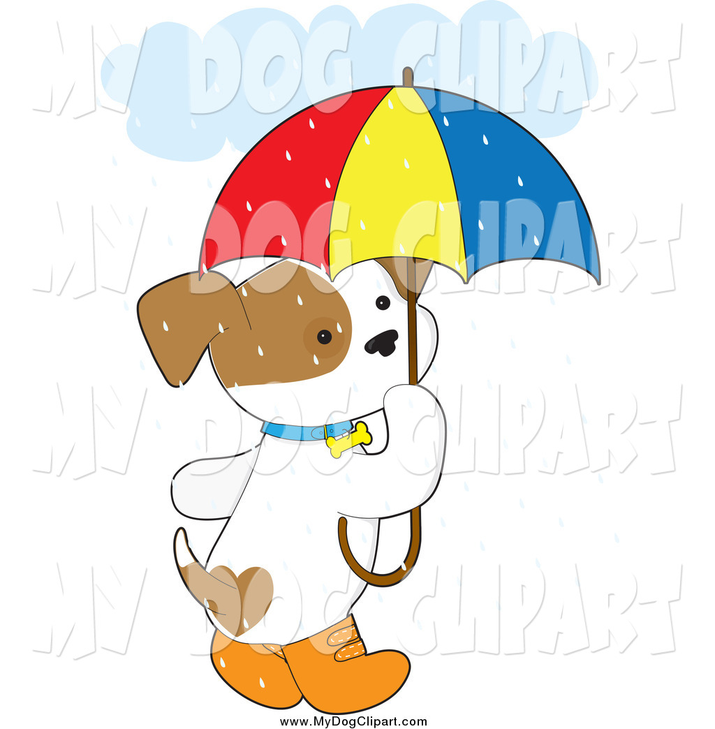 1024x1044 Clip Art Of A Cute Puppy Dog With Boots And An Umbrella In