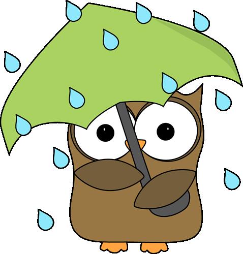 478x500 Owl In The Rain Clip Art