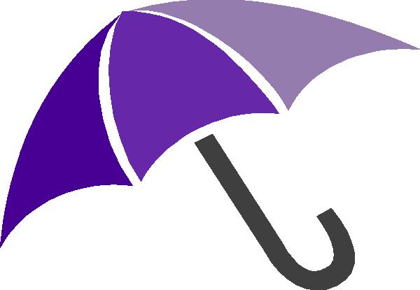 600x415 Purple Umbrella Clip Art