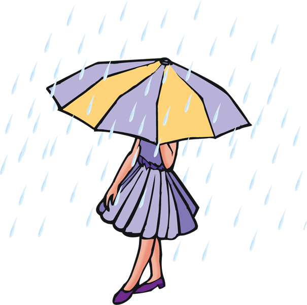 605x600 Rain Clip Art And Poetry Clipart Image