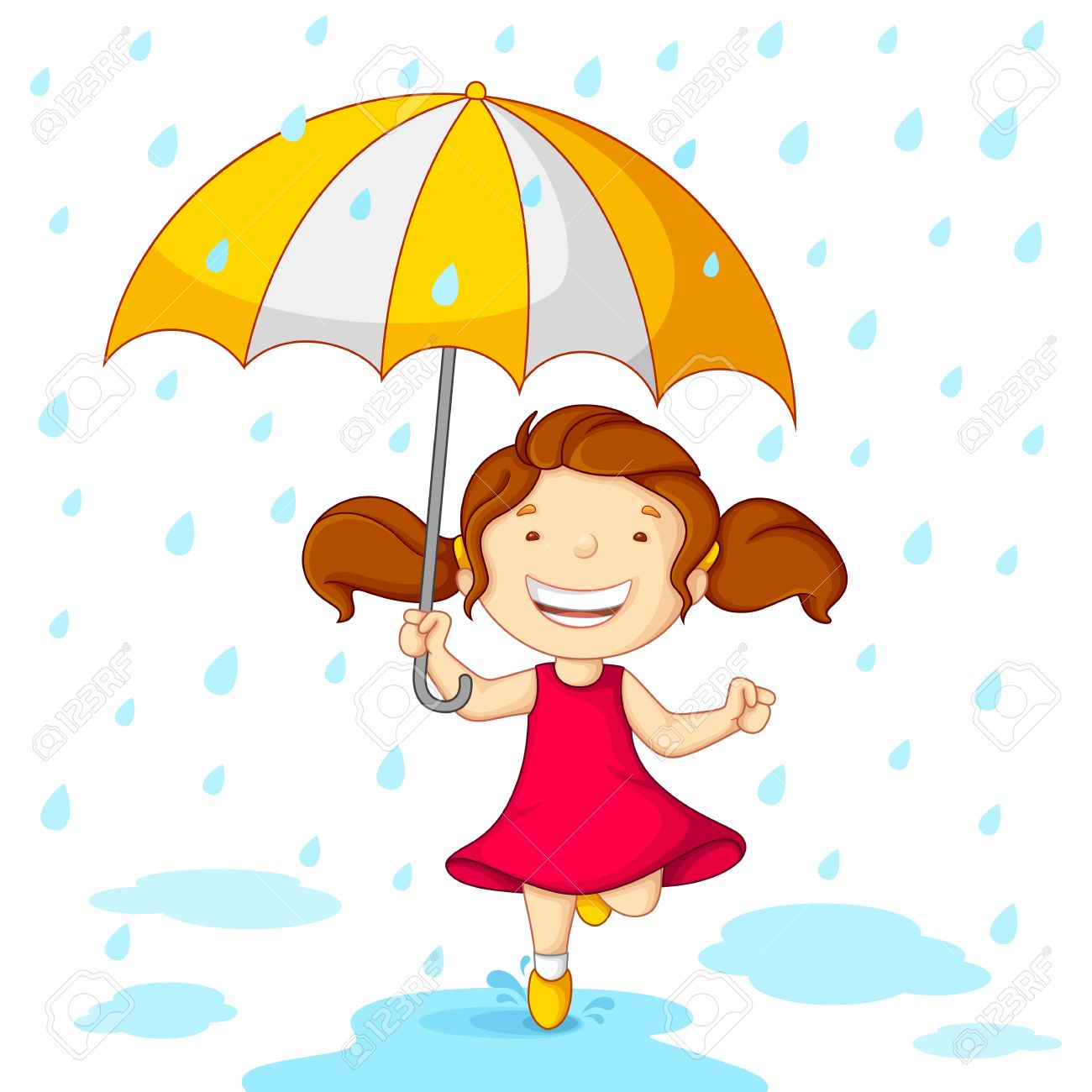 1300x1300 Rain Clipart Wet Kid