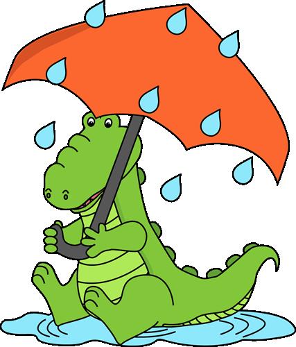 427x500 Alligator Sitting In The Rain Clip Art