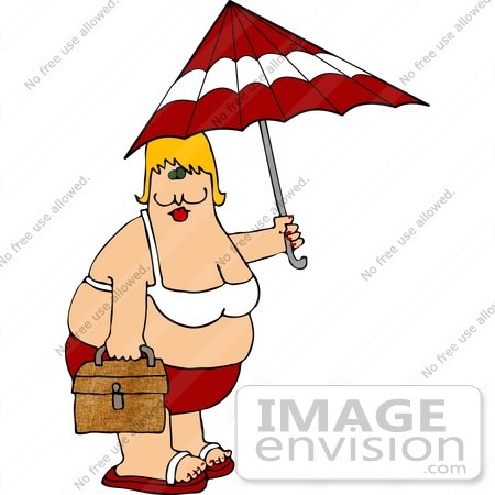 450x450 Clipart Illustration Of An Obese Cacuasian Woman In A Red