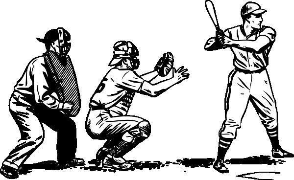 600x368 Batter Catcher And Umpire Clip Art