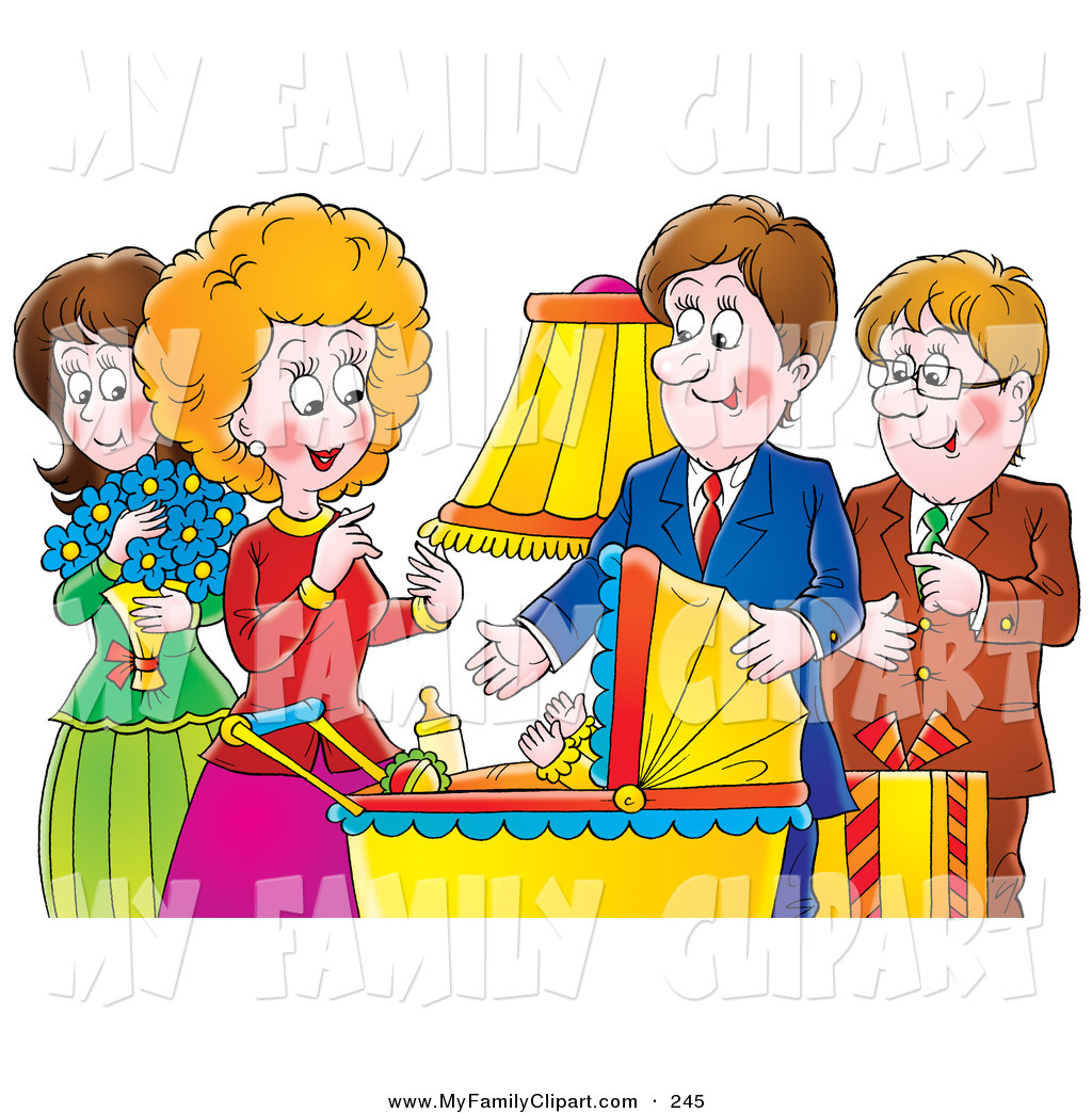 1024x1044 Clip Art Of A Happy Family Aunt, Uncle, Mother And Father