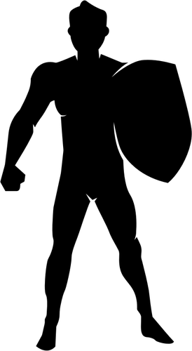 274x500 Silhouette Of Man With Shield Vector Clip Art Public Domain Vectors