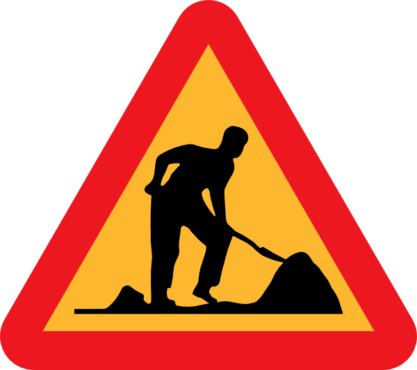 600x533 Free Construction Sign Clipart Image