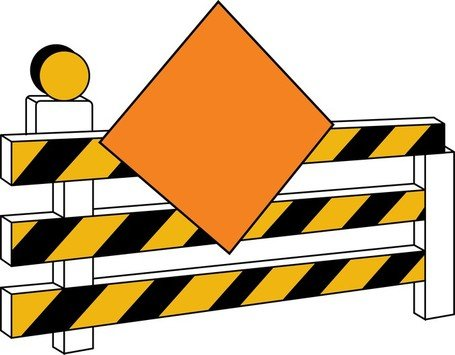 455x355 Under Construction Sign Board, Vector Graphic