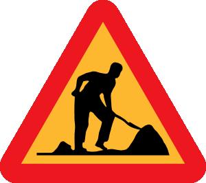 300x266 Road Work Under Construction Clip Art