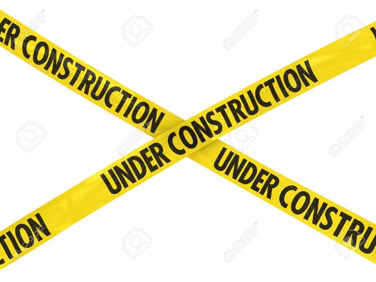 1300x974 Under Construction Tape Cross Stock Photo, Picture And Royalty