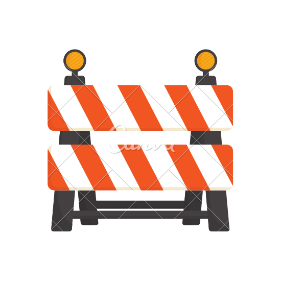 550x550 Under Construction Barrier