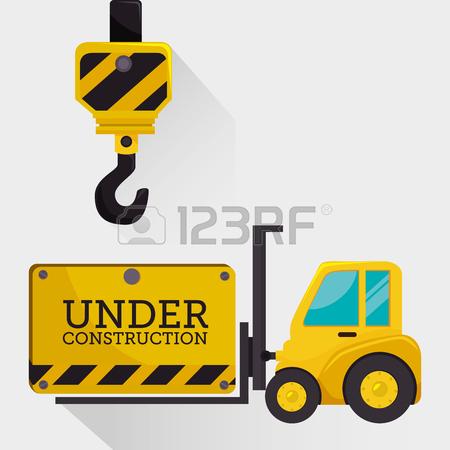 450x450 Under Construction Graphic Advertising, Vector Illustration Desgin