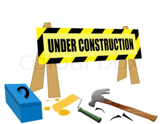 320x244 Bold Under Construction Text On Yellow Sign Stock Vector Colourbox