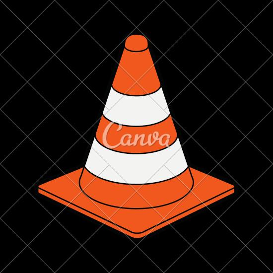 550x550 Traffic Cone Under Construction Icon