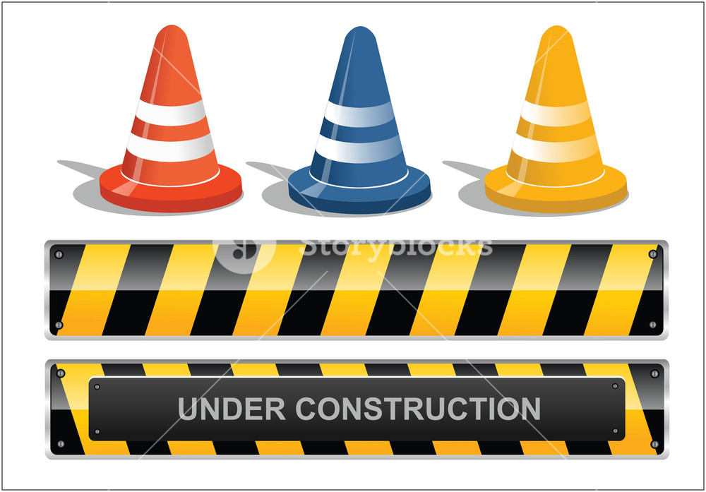 1000x697 Site Under Construction Royalty Free Stock Image