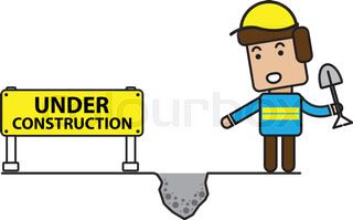 320x199 Under Construction Vector Background Stock Vector Colourbox