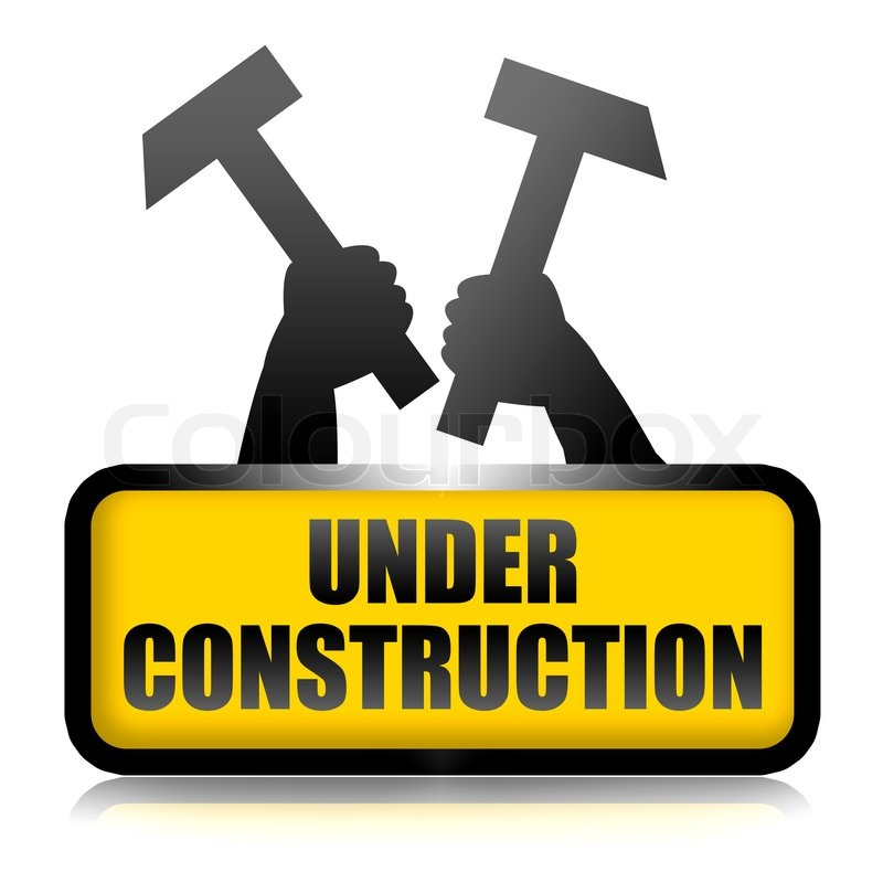 800x800 Under Construction Sign Stock Photo Colourbox