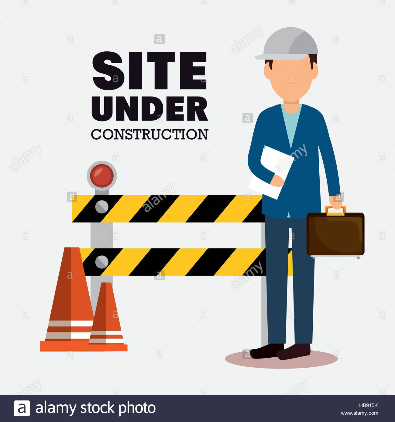 1300x1390 Site Under Construction Icon Vector Illustration Design Stock