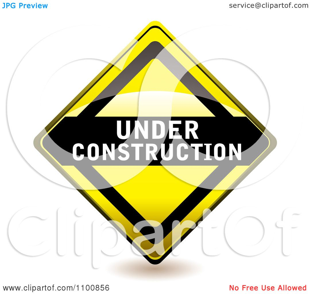 1080x1024 Clipart Yellow Diamond Under Construction Sign