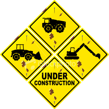 380x380 Clipart Construction Sign