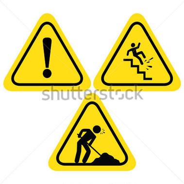 379x380 Hazard Warning Symbols Clip Art