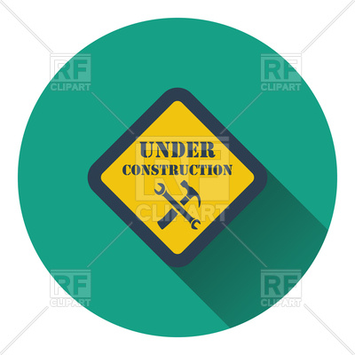 400x400 Icon Of Under Construction Royalty Free Vector Clip Art Image