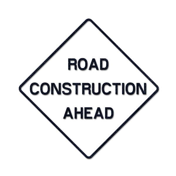 600x600 Road Work Ahead Sign Clip Art Clipart Collection