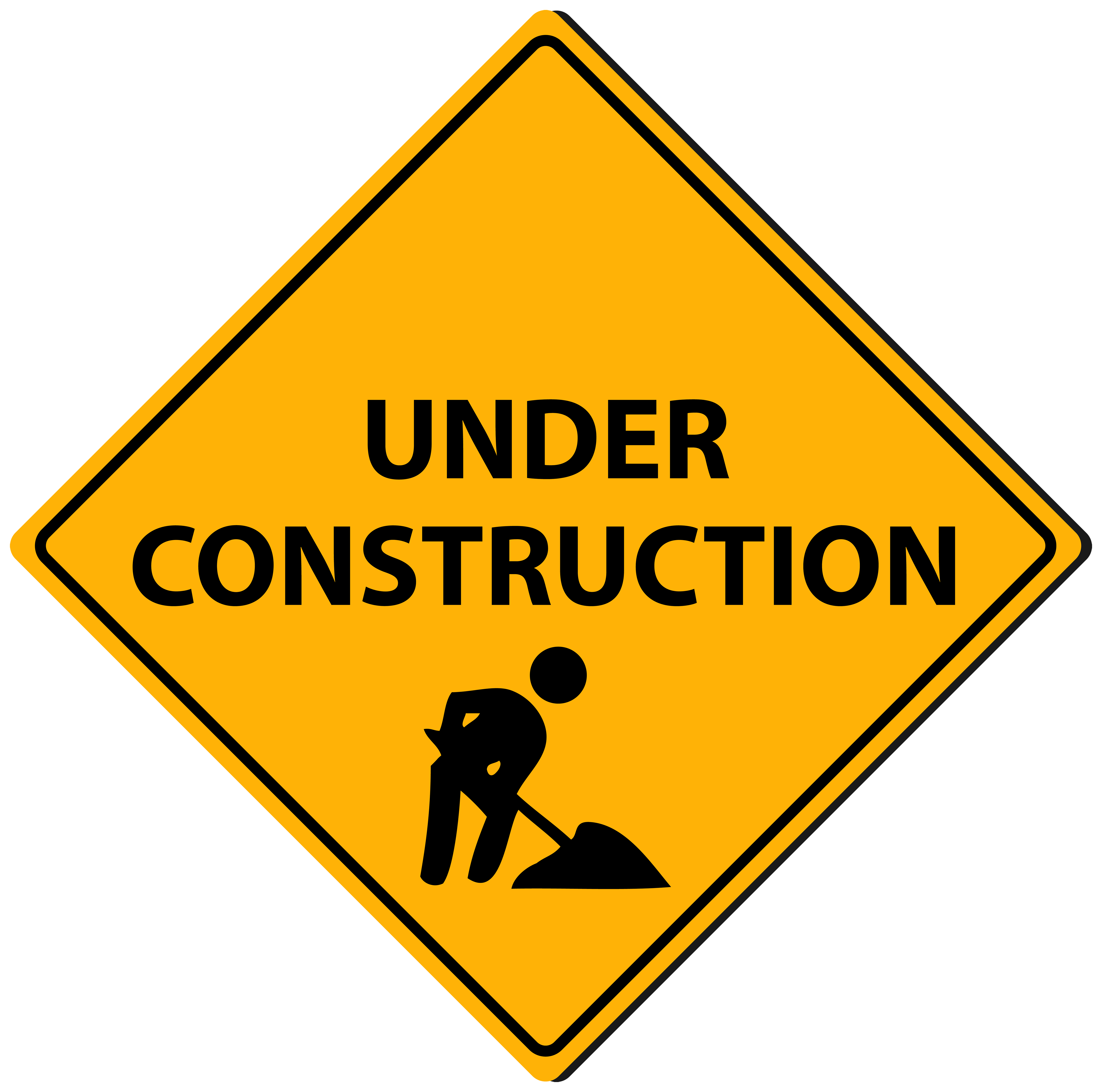 5000x4953 Triangle Under Construction Sign Png Clipart